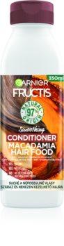 Garnier Fructis Macadamia Hair Food glättender Conditioner für trockenes und ungeschmeidiges Haar