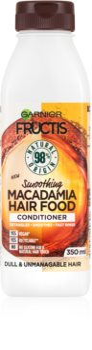 Garnier Fructis Macadamia Hair Food изглаждащ балсам за суха и непокорна коса