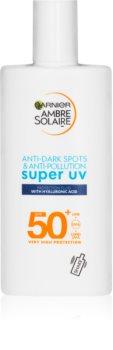 Garnier Ambre Solaire Sonnenlotion für das Gesicht SPF 50