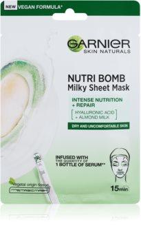 Garnier Skin Naturals Nutri Bomb mască textilă nutritivă  cu lapte de migdale