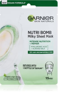 Garnier Skin Naturals Nutri Bomb masque nourrissant en tissu pour peaux sèches
