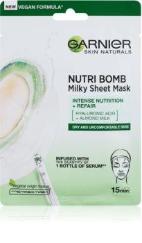 Garnier Skin Naturals Nutri Bomb tápláló gézmaszk mandulatejjel