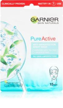 Garnier Skin Naturals Pure Active plátýnková maska s čisticím efektem