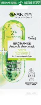 Garnier Skin Naturals Ampoule Sheet Mask maseczka płócienna o działaniu oczyszczającym i odświeżającym.
