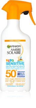 Garnier Ambre Solaire Kids Sensitive creme bronzeador para crianças  SPF 50+