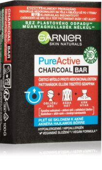 Garnier Pure Active Charcoal Bar Cleansing Soap