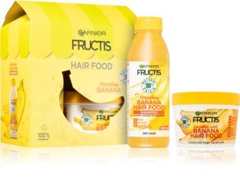 Garnier Fructis Banana Hair Food козметичен комплект (за суха коса )