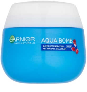 Garnier Skin Naturals Aqua Bomb crema-gel rigenerante antiossidante notte
