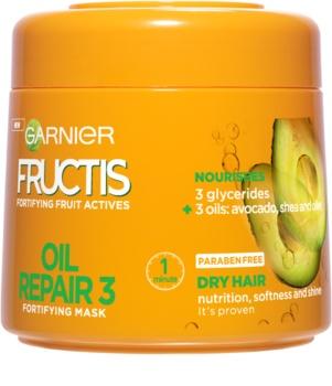 Garnier Fructis Oil Repair 3 maska za okrepitev las za suhe in poškodovane lase
