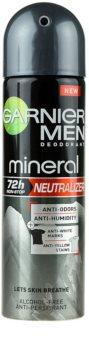 Garnier Men Mineral Neutralizer Antiperspiranttisuihke Hoitaa valkoisia merkkejä