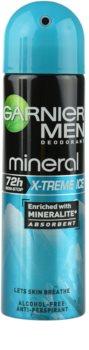 Garnier Men Mineral X-treme Ice spray anti-transpirant