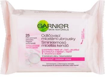 Garnier Skin Naturals Mizellengesichtstücher zur Foundation-Entfernung für empfindliche Haut