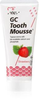 GC Tooth Mousse Strawberry ремінералізуючий захисний крем для чутливих зубів без фтору