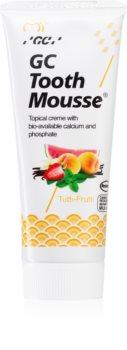 GC Tooth Mousse Tutti Frutti οργανομεταλλική προστατευτική κρέμα για τα δόντια χωρίς φθόριο