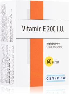 Generica Vitamin E 200 IU želatinové kapsle - ochrana před oxidačním stresem