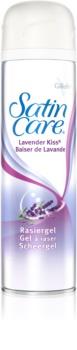 Gillette Satin Care Lavender Kiss Rasiergel für Damen