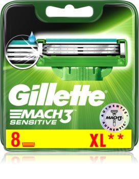 Gillette Mach 3 Sensitive recambios de cuchillas 8 uds