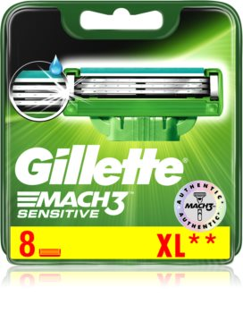 Gillette Mach3 Sensitive lames de rechange 8 pcs