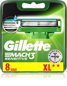 Gillette Mach3 Sensitive náhradní břity 8 ks