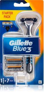 Gillette Blue3 Rasierer + Rasierklingen