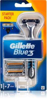 Gillette Blue3 rasoir + lames de rechange