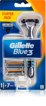 Gillette Blue3 самобръсначка + резервни остриета