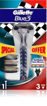 Gillette Blue 3 Shaver + Spare Blades 3 pcs