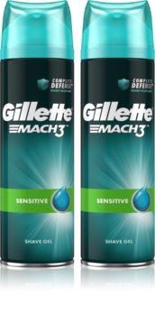 Gillette Mach3 Sensitive gel na holení se zklidňujícím účinkem pro muže