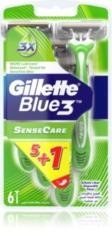 Gillette Blue 3 Sense Care eldobható borotva