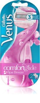 Gillette Venus ComfortGlide Breeze Barberkniv + 2 erstatningshoveder