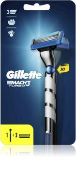 Gillette Mach3 Turbo Champions League Rasierer + 2 Ersatzköpfe