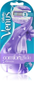 Gillette Venus ComfortGlide Breeze Shaver + Spare Blades 2 pcs