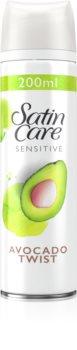 Gillette Satin Care Avocado Twist gel na holení pro ženy
