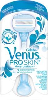 Gillette Venus ProSkin™  MoistureRich máquina de barbear + 2 cabeças de reposição