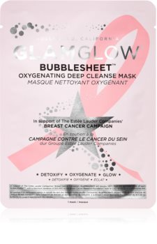 Glamglow Bubblesheet cleansing face sheet mask with activated charcoal with Brightening Effect