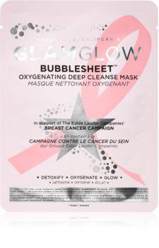 Glamglow Bubblesheet oczyszczają maska w płacie z węglem aktywnymc z efektem rozjaśniającym