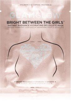 Glamglow Bright Between The Girls hydratační maska na poprsí pro okamžité rozjasnění