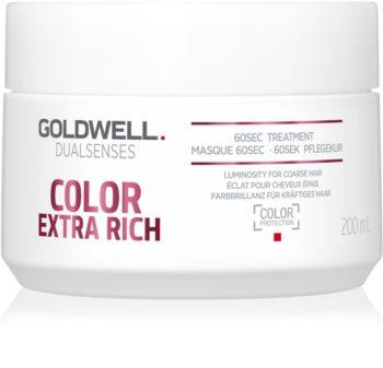 Goldwell Dualsenses Color Extra Rich mascarilla regeneradora para cabello áspero y teñido