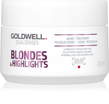 Goldwell Dualsenses Blondes & Highlights Regenerating Mask for Yellow Tones Neutralization