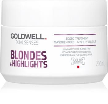 Goldwell Dualsenses Blondes & Highlights регенерираща маска  неутрализиращ жълтеникавите оттенъци
