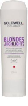 Goldwell Dualsenses Blondes & Highlights condicionador para cabelo loiro neutraliza tons amarelados
