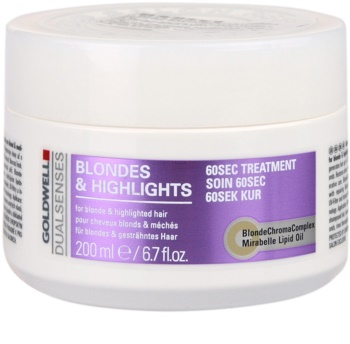 Goldwell Dualsenses Blondes & Highlights masca pentru par cu suvite
