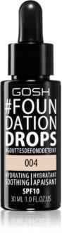 Gosh Foundation Drops fond de teint léger en gouttes SPF 10