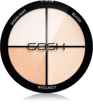 Gosh Strobe'n Glow Palette mit Kontur- und aufhellenden Schatten