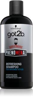 got2b Phenomenal освежаващ шампоан за коса и брада