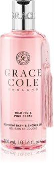 Grace Cole Wild Fig & Pink Cedar zklidňující koupelový a sprchový gel