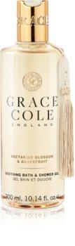 Grace Cole Nectarine Blossom & Grapefruit успокаивающий гель для душа и ванн