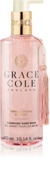 Grace Cole Vanilla Blush & Peony sabonete líquido nutritivo para as mãos
