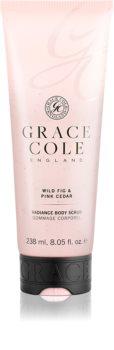Grace Cole Wild Fig & Pink Cedar rozjasňujúci telový peeling