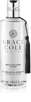 Grace Cole White Nectarine & Pear sprchový a kúpeľový gél